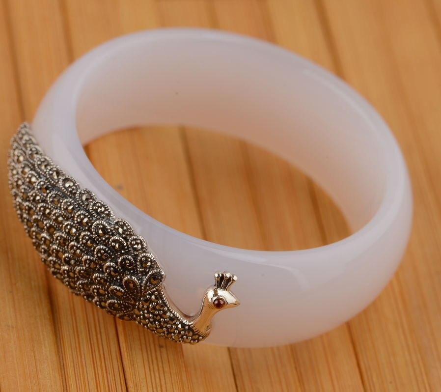 En gros argent incrusté bracelet paon S925 mère anniversaire présent femmes modèles sont nécessaires