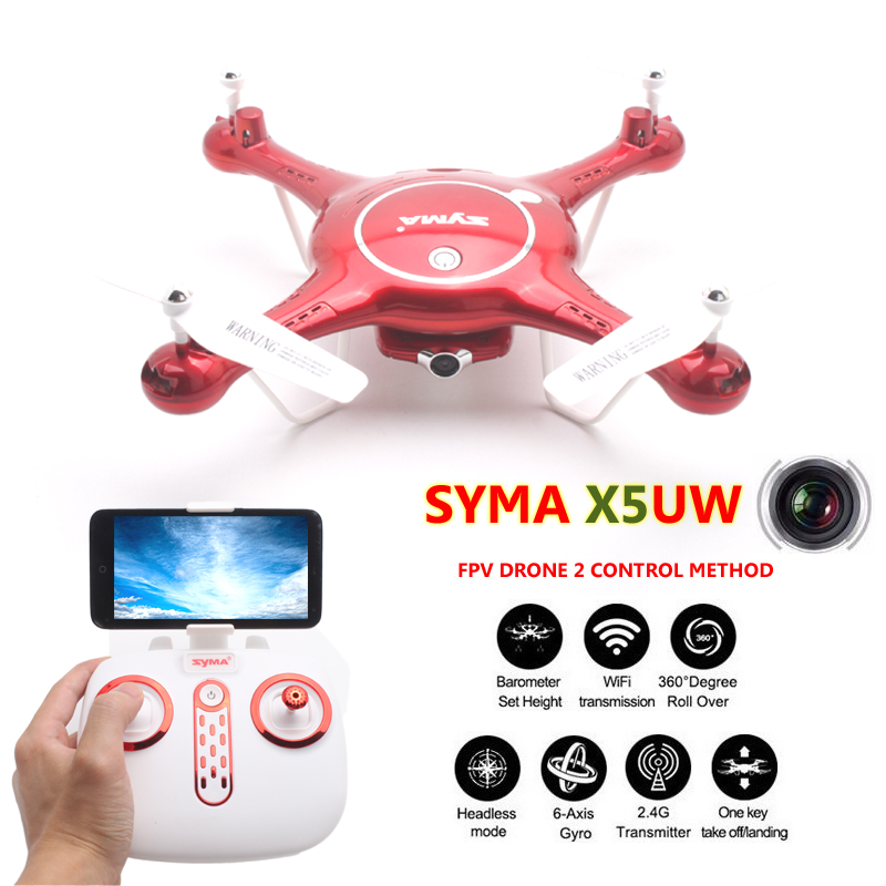 ФОТО SYMA X5UW Quadrocopter Quadcopter FPV Drones With Camera Dron Com Camera HD Profissional Headless Mode WIFI Rc Helicoptero