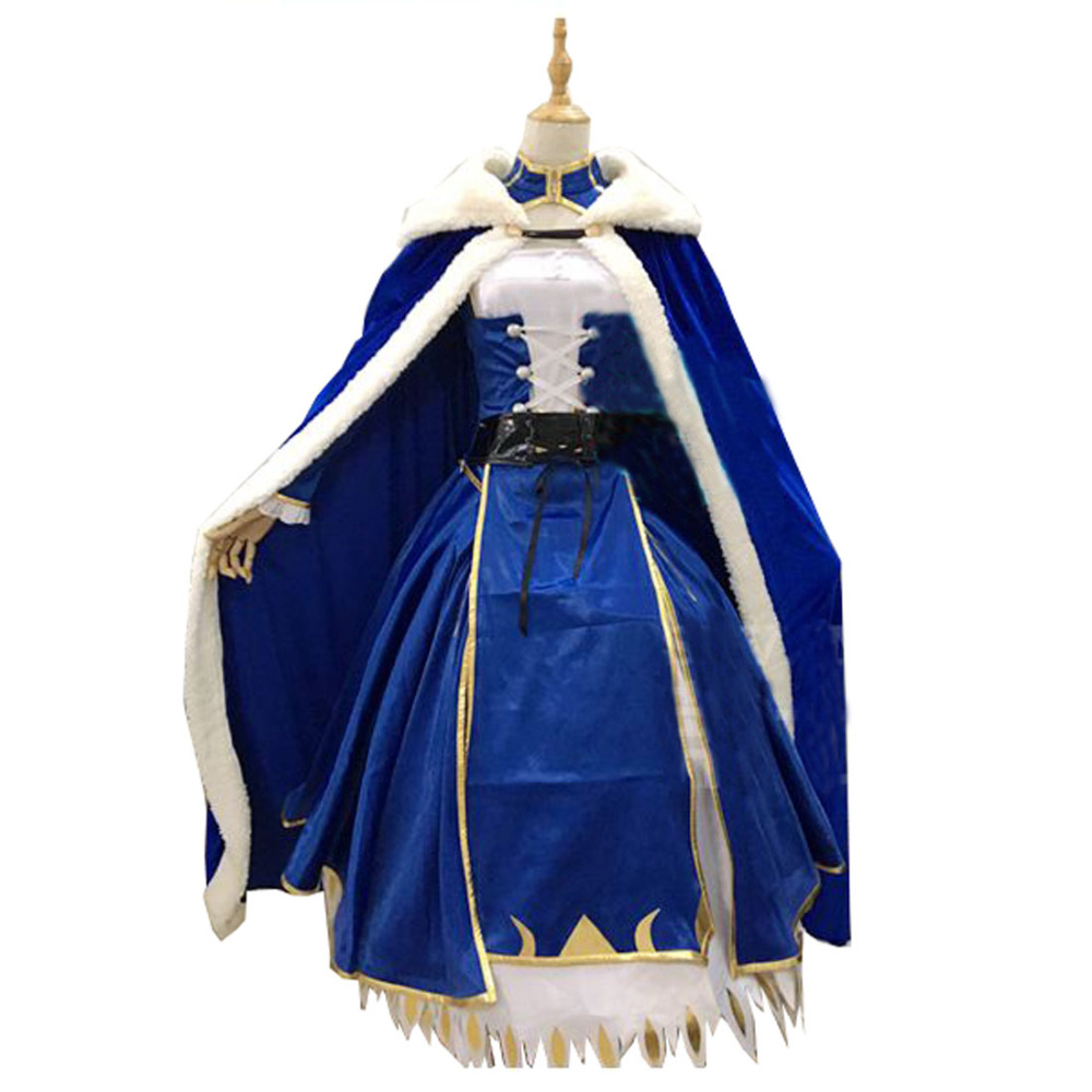 2017 Saber Cosplay Costume Artoria Pendragon Saber Cosplay Fate Stay Night UBW Fate Zero Sword Cosplay Costume With Cloak rolecos japanese anime fate stay night altria pendragon cosplay costume fate zero saber arturia pendragon cosplay costume