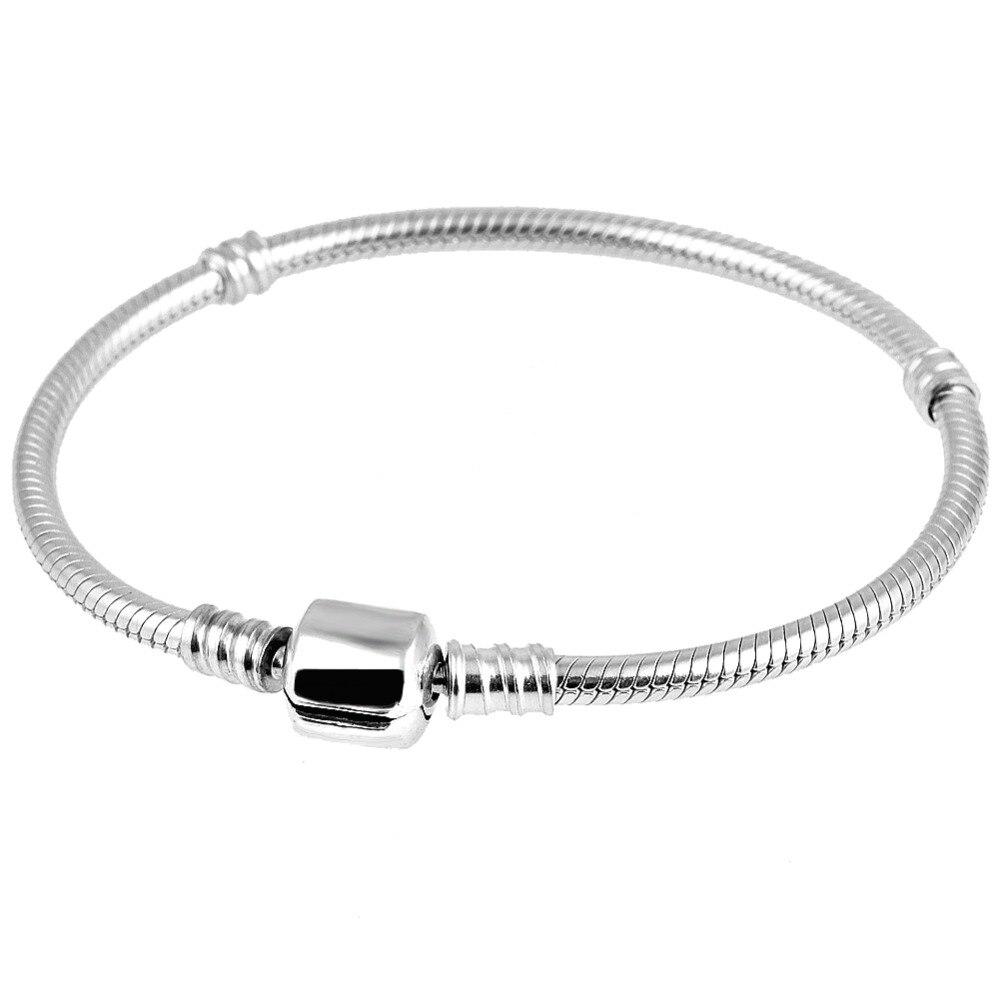 Femmes Fille Creux Charme Perles Européennes Argent 925 Princesse Couronne Chaîne Bracelet