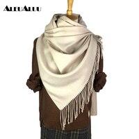 ALEUALUU Brand 100 Cotton Bandana Women Silk Scarf Perfect Quality Soft Shawls Autumn Winter Collocation Thick