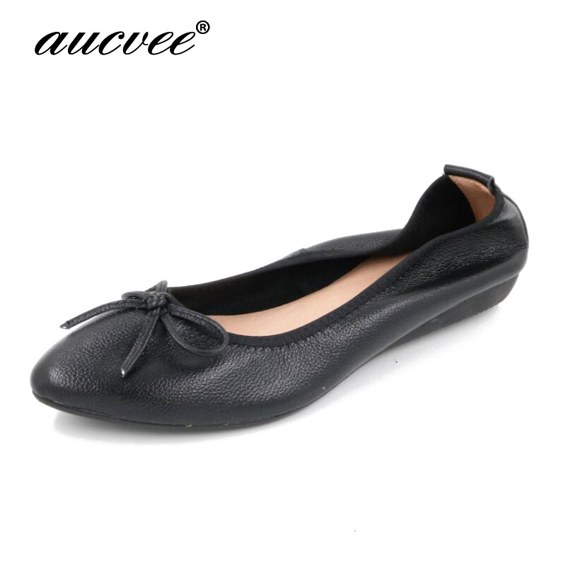 New Fashion Bowtie Pointed Toe Slip-on Women Flats Ladies Casual Plain Ballet Flats Size 35-42 Women Ballerinas Flats For Women odetina 2017 brand fashion women casual flat spring shoes pointed toe ballet flats bowknot slip on loafers ballerinas plus size