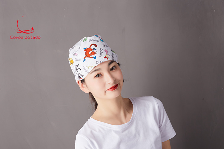 Medical operation cap doctors and nurses midwifed beauty printed cotton for both men women