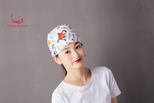 Medical operation cap doctors and nurses cap midwifed beauty printed cotton for both men and women