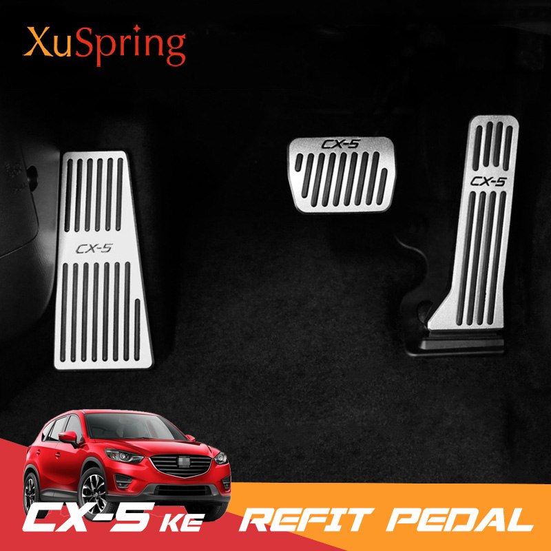 Car Refit Accelerator Gas Footrest Pedals Plate Clutch Throttle Brake Treadle Styling For <font><b>Mazda</b></font> CX-5 <font><b>CX5</b></font> 2013 2014 <font><b>2015</b></font> <font><b>2016</b></font> KE image
