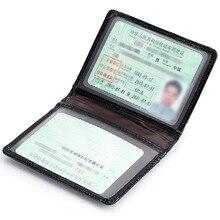 Genuine Leather Credit Card Holder Men Women ID Card Case Bank Credit Card Wallet Driver License Holder Wallet for Credit Cards
