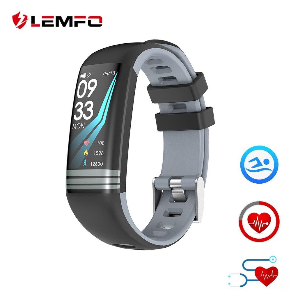 LEMFO Smart Fitness Bracelet Color Screen IP67 Waterproof Heart Rate Blood Pressure Oxygen Multi Sport Mode Band For Men Women