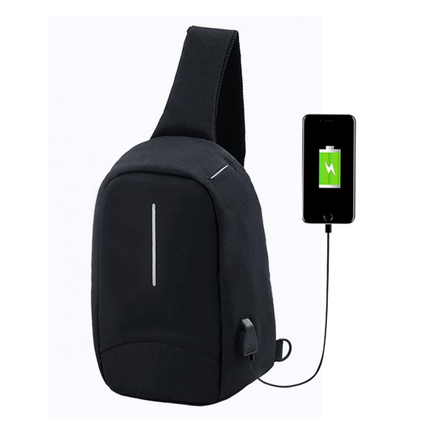 new anti-theft usb rechargeable chest bag high-grade thickened messenger bag Designer High Quality MAY10