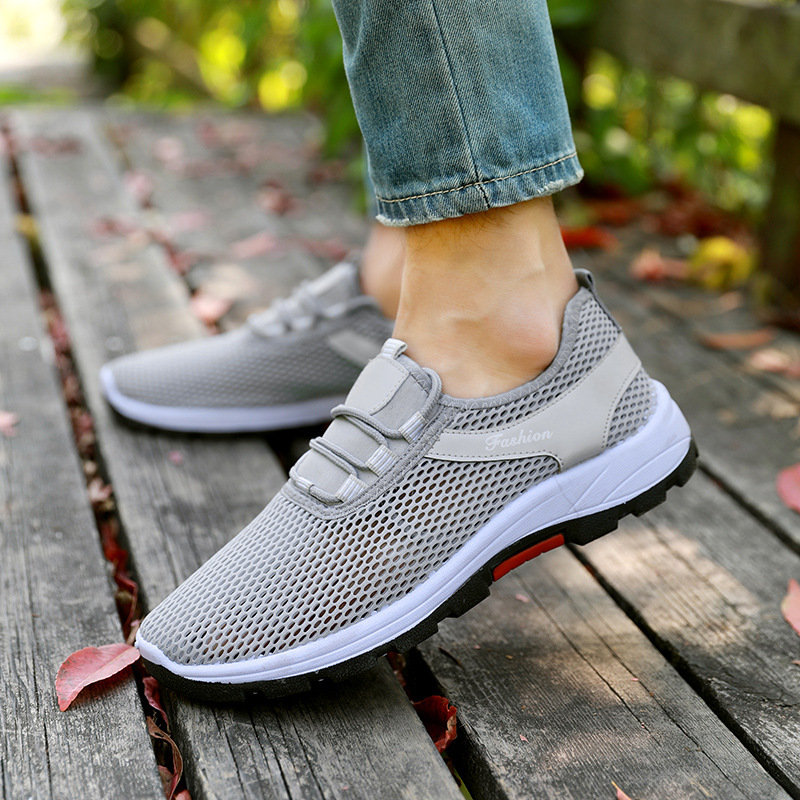 1aa84556f08e Tidal Current Old Couple Beijing Shoes Walkabout Men Women Net Shoes Sports  Trend Shoes Woman Flat Walking Shoes Sneakers-in Walking Shoes from Sports  ...