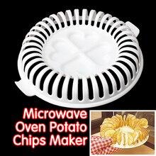 DIY низкокалорийная микроволновая печь без жира, Набор для изготовления картофельных чипсов, устройство для нарезки картофельных чипсов, инструменты для приготовления чипсов