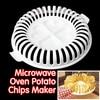 Juego para hacer patatas fritas sin grasa para horno microondas, utensilios para hacer patatas fritas sin grasa