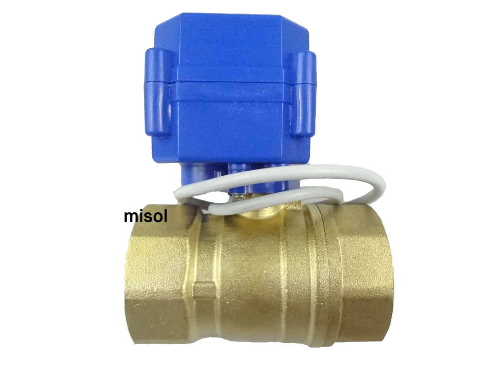 Free shipping!!! motorized valve brass G1 1/4 DN32 (reduce port) 2 way, 12VDC, electric valve, ball valve