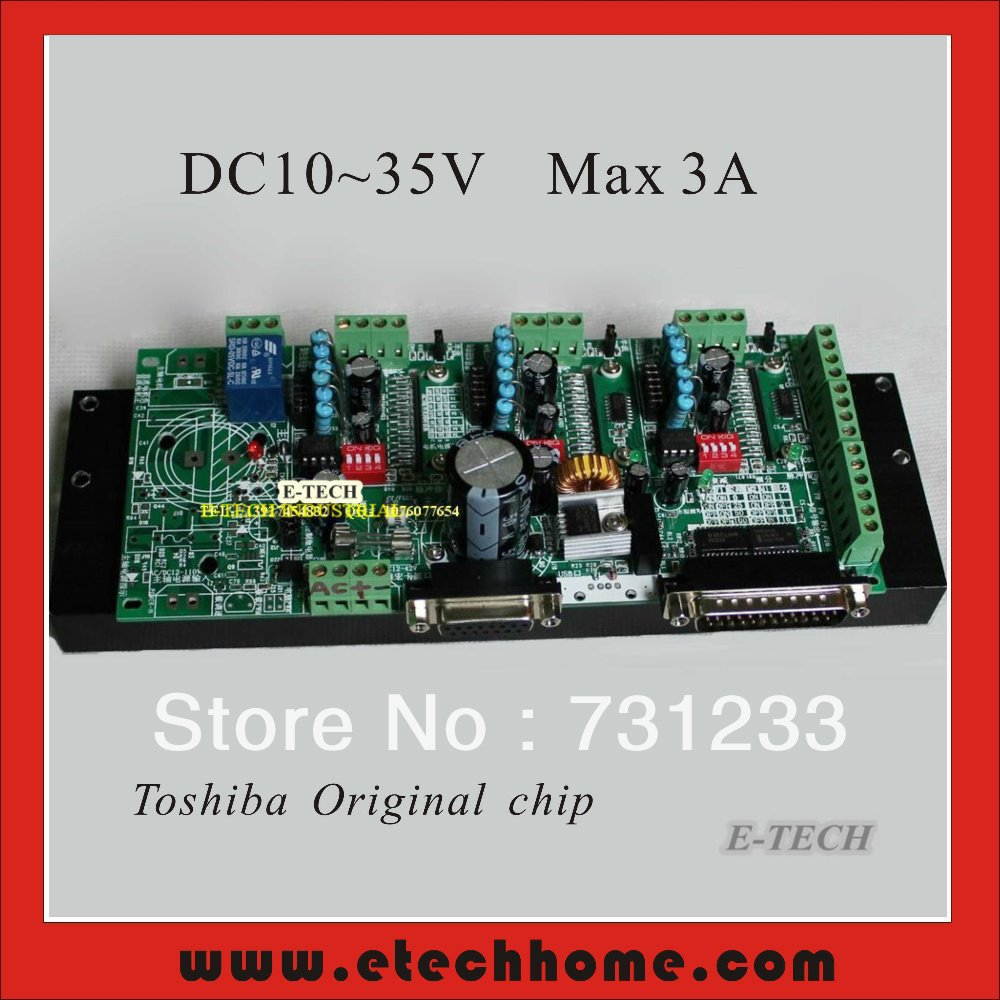 Pluggable TB6560 Stepper Integrated Driver Board 3 Axis Controller AC 9~26V DC10 ~ 36V Input 3.3A Full /2/4/8/16 step Segments
