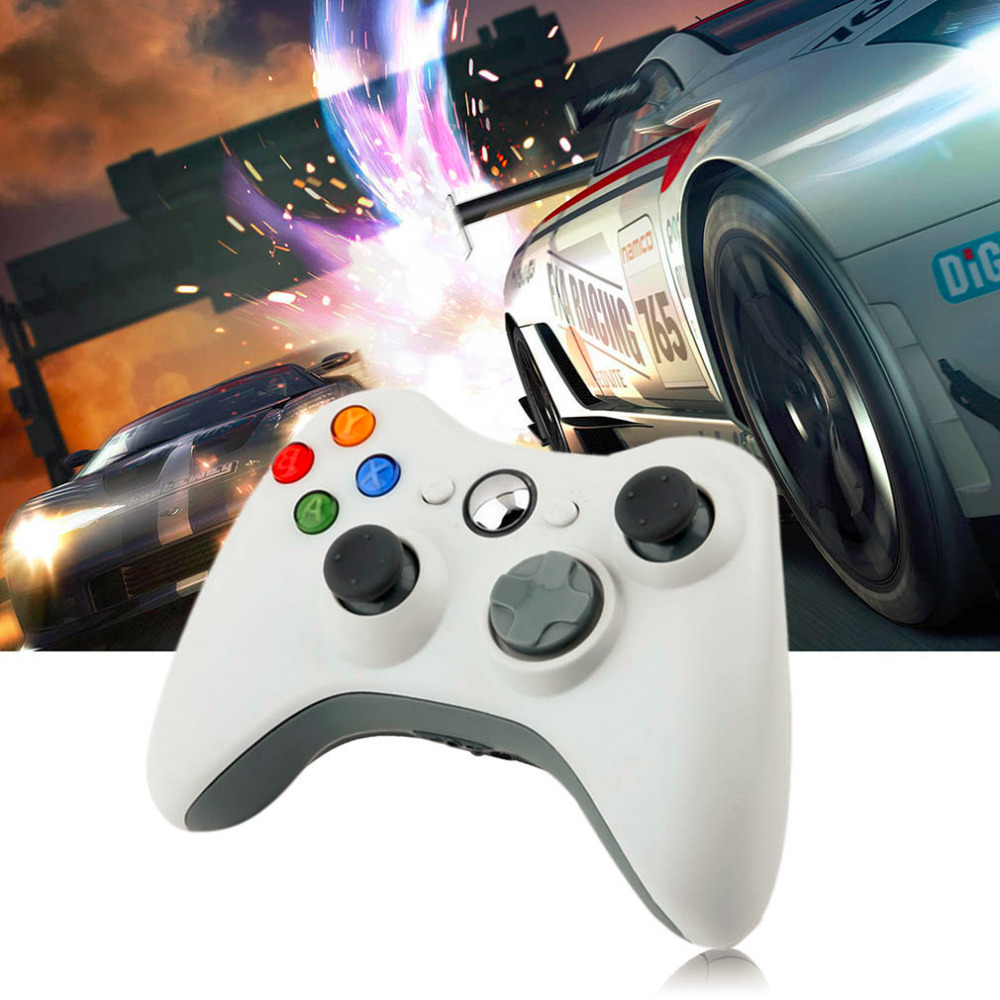 1pcs USB Wired Joypad Gamepad  white Controller For Microsoft for Xbox & Slim for 360 PC for Windows 7 Hot Worldwide 2016 1pcs for ps2 to for ps3 pc usb gamepad controller converter cord