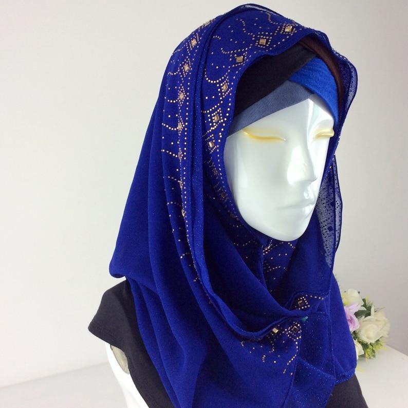 New! Georgette Silk Scarves Shawl Diamond Chiffon Glitter Solid ,Women Spring Scarfs 2017 Musilim Hijab ,Long Scarf,Wrap