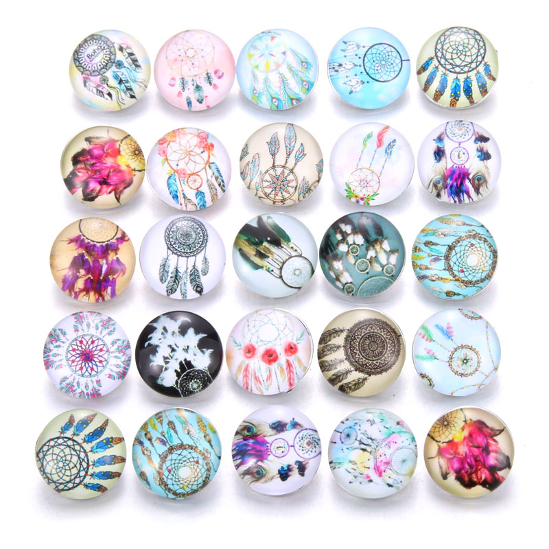 10 шт./лот, смешанные цвета и узор, 18 мм, стеклянные кнопки, ювелирное изделие, граненое стекло, оснастка, подходят, оснастки, серьги, браслет, ювелирное изделие - Окраска металла: AB221