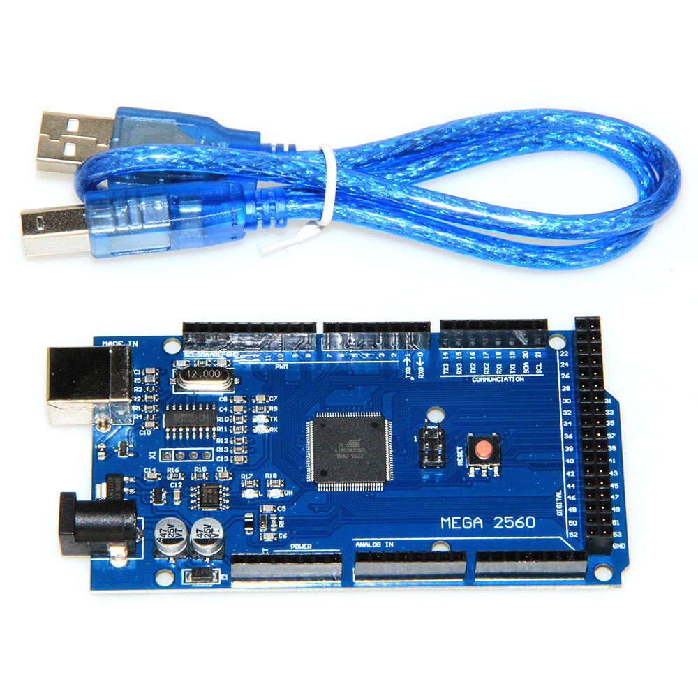 1PCS Mega 2560 R3 ATmega2560-16AU CH340G Development Board with USB Cabl for arduino DIY Starter KIT MEGA2560 REV3 adeept diy electric new project lcd1602 starter kit for arduino uno r3 mega 2560 pdf free shipping book headphones diy diykit