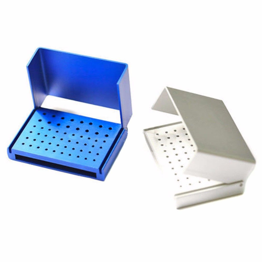 1 Pc 58 Holes Dental Bur Holder Stand Autoclave Disinfection Box Case TN99