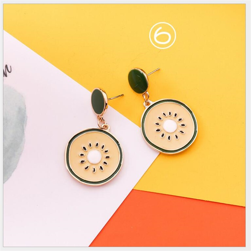 Bright Summer Food Kawaii Earrings  1