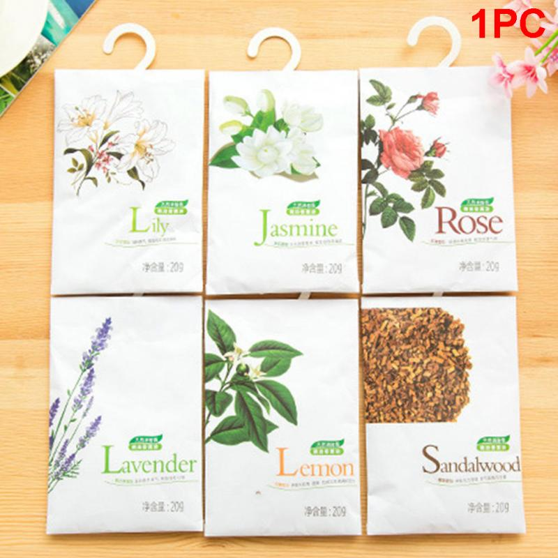 Home Decor Bright Sale Nature Flower Fresh Air Plants 4 Kinds Scented Fragrance Home Wardrobe Drawer Car Perfume Sachet Rose Nature Smell