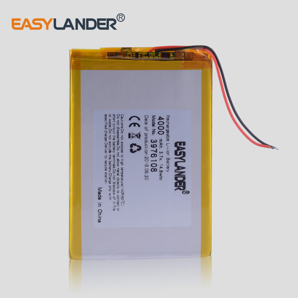 Polymer battery 9 inches tablet battery rechargeable <font><b>4000</b></font> <font><b>mah</b></font> 3976108 tablet 10 image