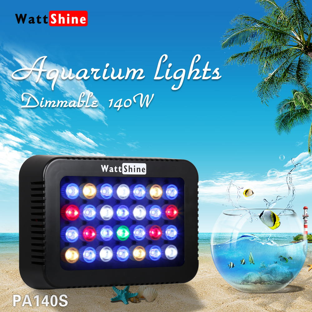 New 140W led freshwater planted aquarium lighting marine aquarium coral led lights Pets Animal grow Freshwater aquariums