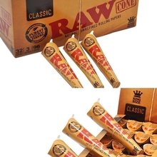 Smoking Cigarette Paper Pre-Rolled Cones Shaped Classic Natural Unrefined Cigarette Rolling Papers Tobacco Model