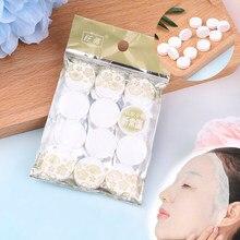12/20/30/50 unidades/pacote diy rosto cuidados com a pele máscara de algodão comprimido máscara de beleza facial feminino máscaras ferramenta hidratante