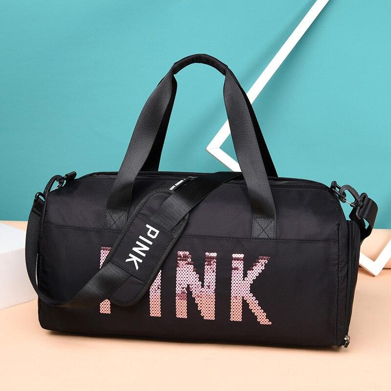 Moda feminina saco de viagem senhoras preto