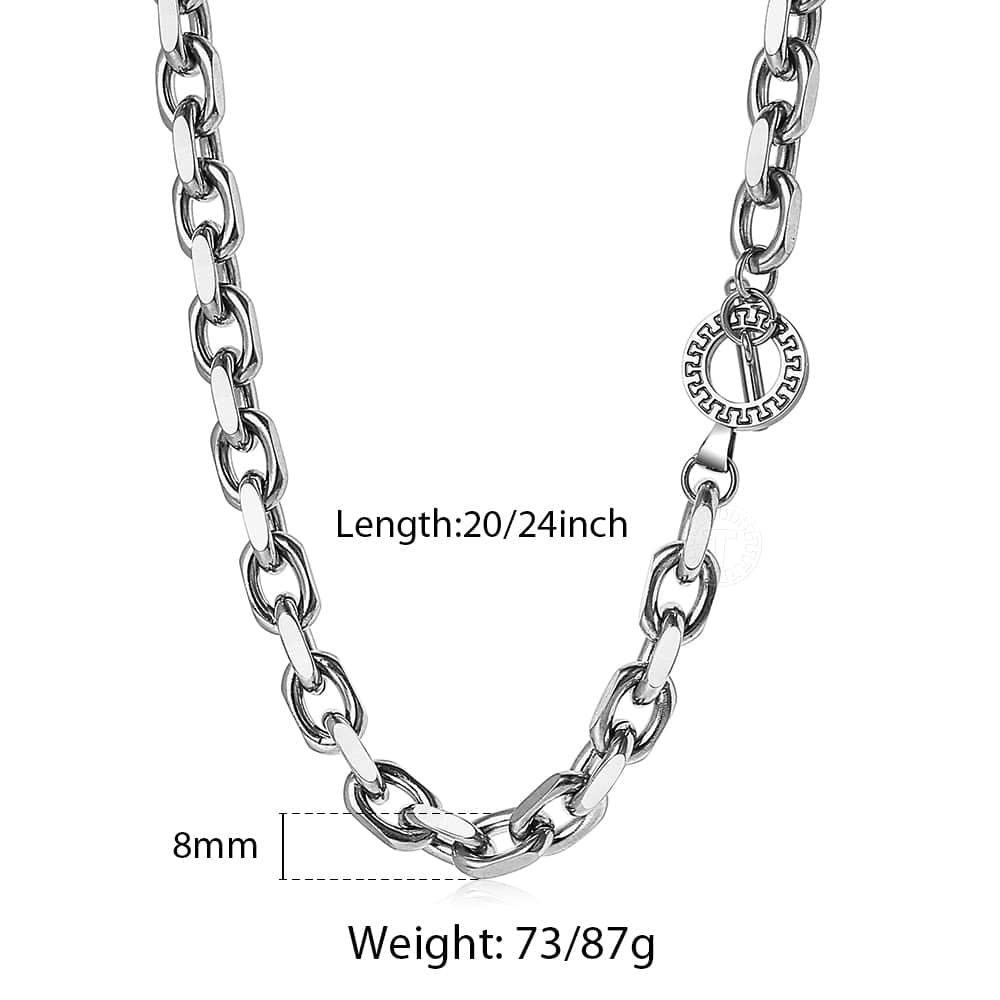 Stainless Steel Cable Link Chain for Men
