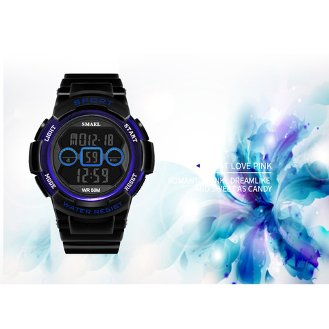 Children Watches SMAEL 50M Waterproof Kids Watches For Girls And Boy 1632B  Sport Wristwatches Led ALarm Clock  Watch Digital Multan