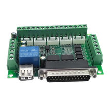 Driver board MACH3 engraving machine 5 Axis CNC breakout board with optical coupler for stepper motor drive controller(China)