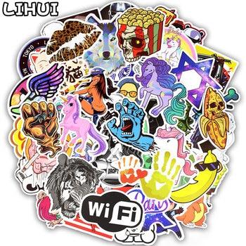 300pcs Graffiti Random Stickers Mixed Anime Rock Cool JDM Stickers DIY Luggage Fridge Laptop Guitar Helmet Waterproof Stickers