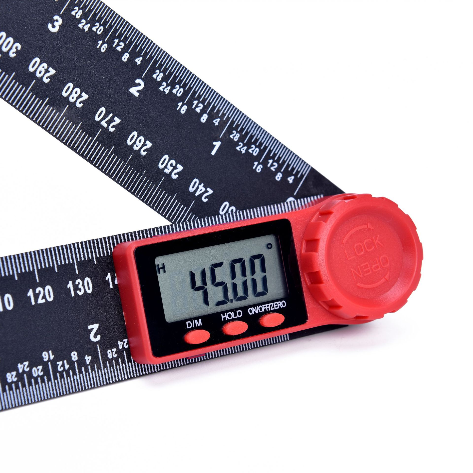 Image 4 - 0 200mm 8'' Digital Meter Angle Inclinometer Angle Digital Ruler Electron Goniometer Protractor Angle finder Measuring Tool-in Protractors from Tools