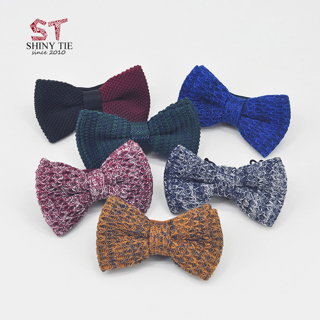 2018 Fashion Knitted Bow Ties For Men Threads Cotton Butterfly Two