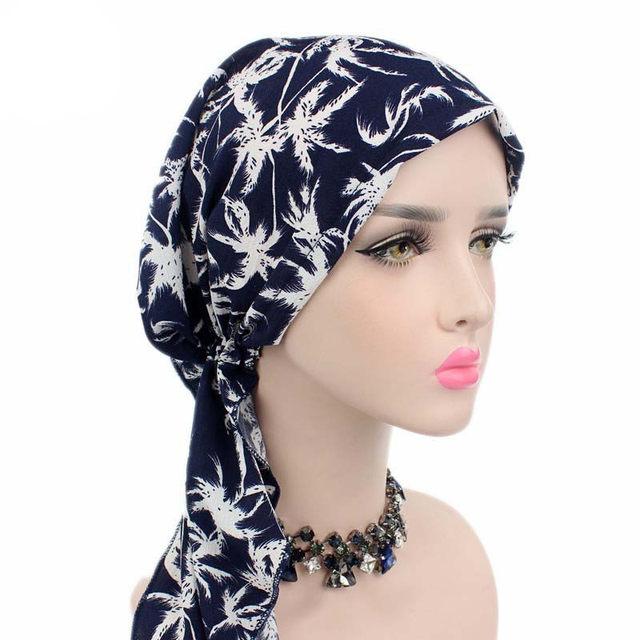 823efd1ebdb 2017 New Women Floral Turban Hat India Cap Hairnet Muslims Chemo Cap Flower  Fold Beanies Chemotherapy
