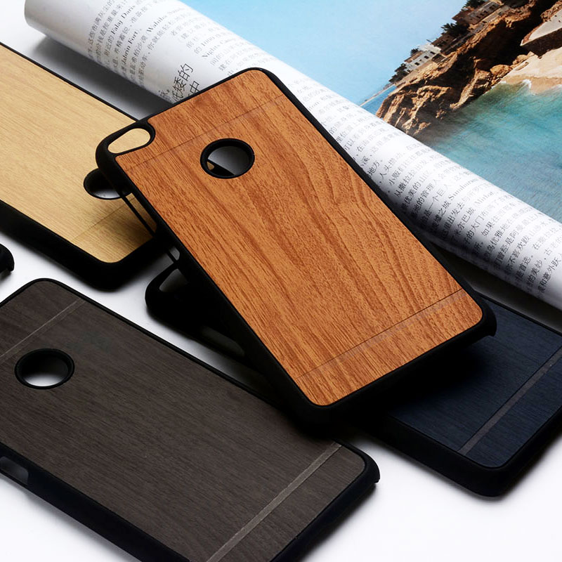 Wood Pattern Case For Huawei P8 P9 Lite Luxury PU Leather Stick With PC  Back Cover For Huawei Honor 8 Lite Nova Lite Case