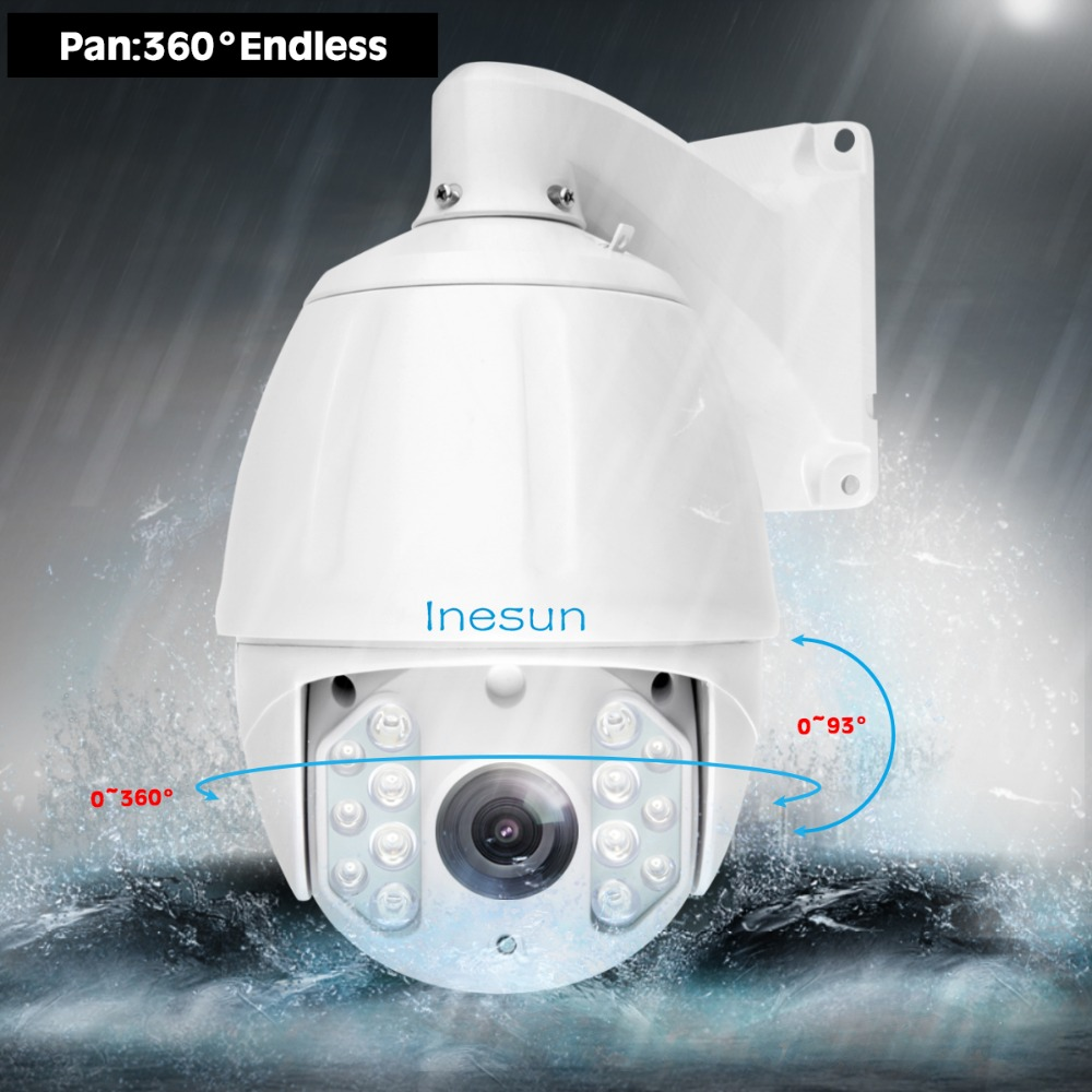 Image 2 - Inesun 36X Optical Zoom H.265 Outdoor PTZ IP High Speed Dome Camera 5MP Super HD 2592x1944 Waterproof 600ft IR Night Vision-in Surveillance Cameras from Security & Protection