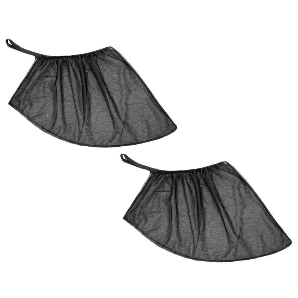 Car Sunshade 2PCS/Set Chic Mesh Car Side Window Shade Cling Sunshades Sun Shade Cover Visor 51x46CM/100x52CM