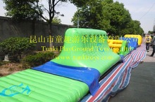 Inflatable splash water slide swimming pool water park playground with cannons