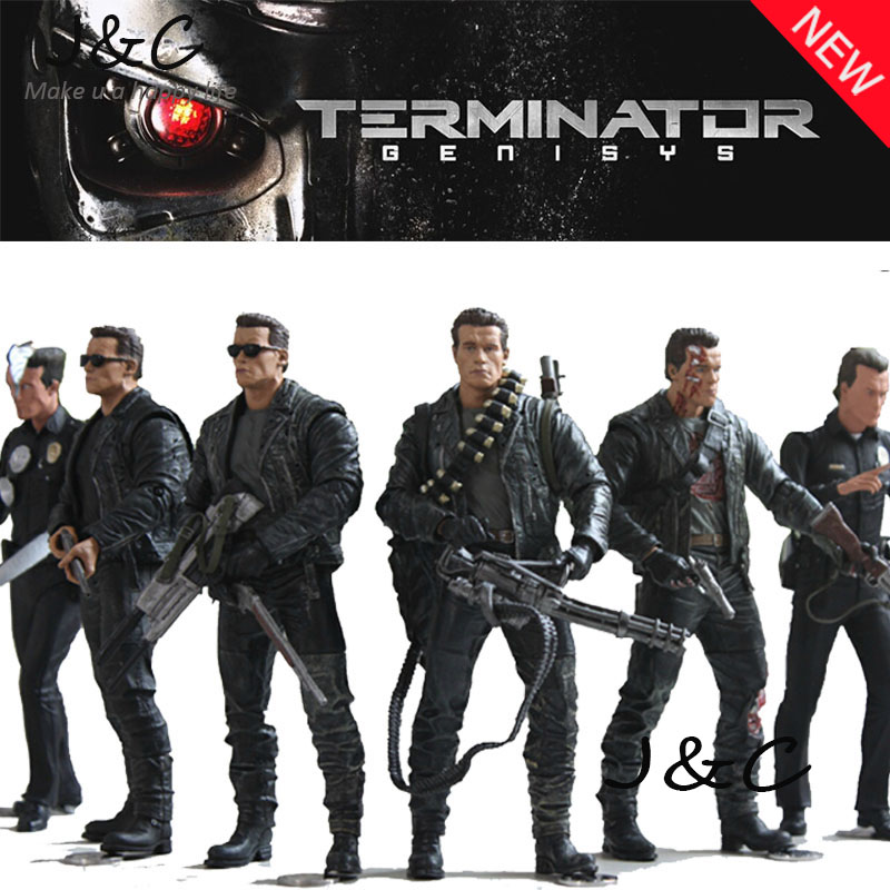 """Free Shipping NECA The <font><b>Terminator</b></font> 2 <font><b>Action</b></font> <font><b>Figure</b></font> T-800 <font><b>ENDOSKELETON</b></font> Classic <font><b>Figure</b></font> Toy 7""""18cm 7Styles Model For Gift"""
