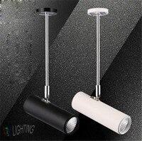 AC 110V 220V LED Track Light Clothing Surface Mounted Spotlights Backdrop Pole Long Arm COB Track