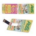 Marca PromotionUSB Cartão Stick USB Flash Drive 32 GB Pen Drive Personalizado Logotipo da Impressão Colorida Presente de Casamento Cartão de Nome DIY logotipo