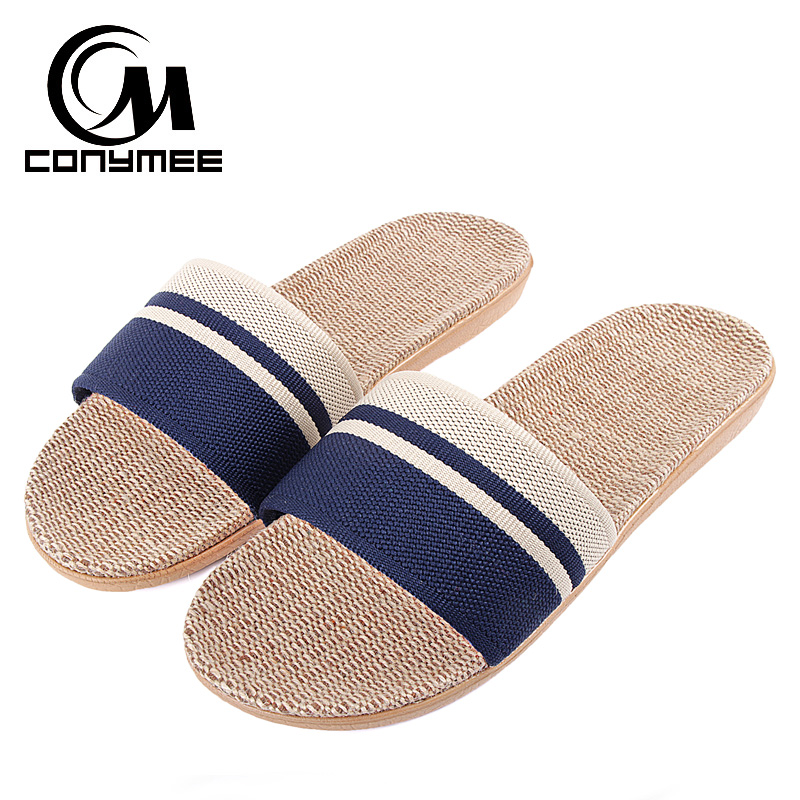 CONYMEE Men Beach Sandals Summer 2018 Men's Flax Slippers Casual Sneakers For Home Indoor Shoes Flip Flops Male Linen Slipper ipega bicycle bike mount stand holder for mobile phone gps navigator black
