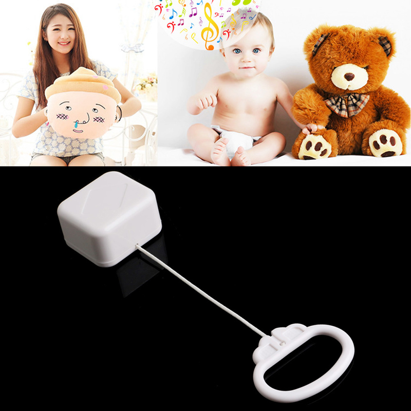 2018 NEW Pull String Cord Music Box White Baby Kids Toy Random Songs