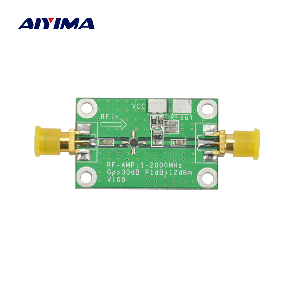 Aiyima New 1 2000mhz 2ghz Low Noise Lna Rf Broadband Amplifier 20db Vhf Module 30db Hf Uhf In From Consumer Electronics On Alibaba