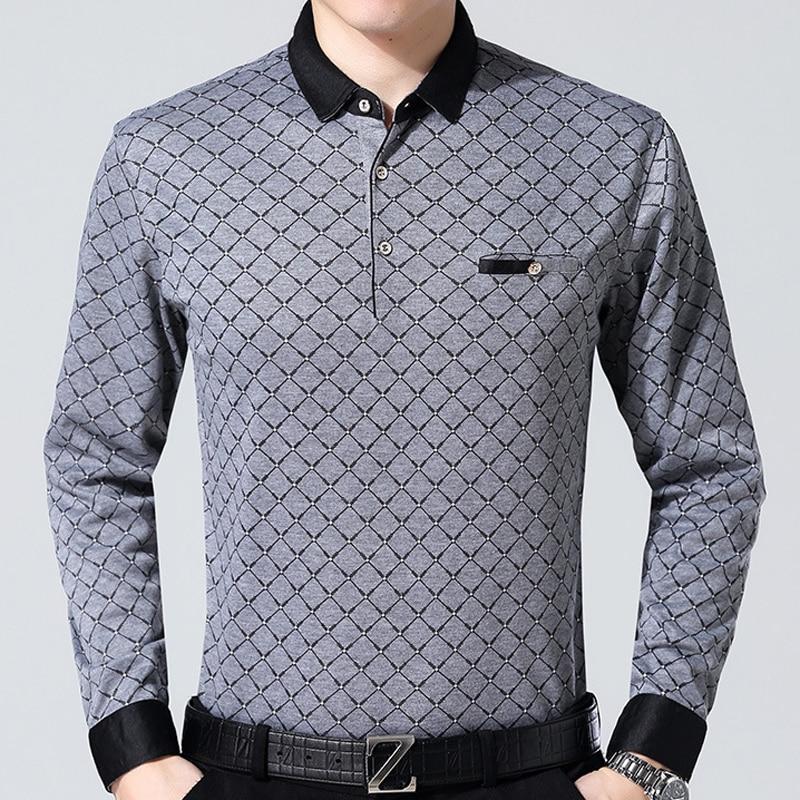 2018 fashion brand   polo   shirt men plaid fitness pocket camisa masculino streetwear mens   polos   shirts sweatshirts poloshirt 9360