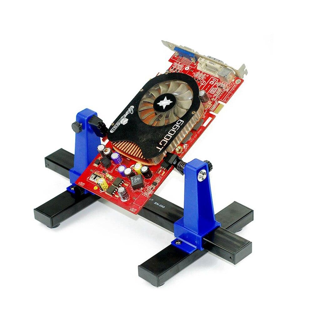 Купить с кэшбэком Adjustable PCB Holder Printed Circuit Board Jig Fixture Soldering Stand Clamp Repair Tool For Soldering Repair 360 Rotation