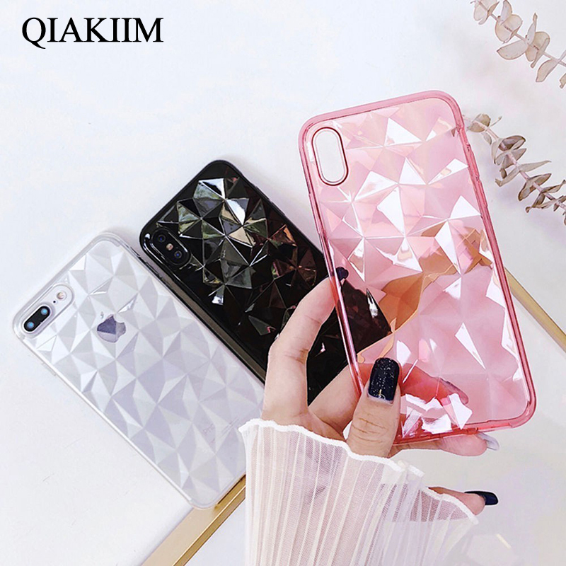 100% Quality 3d Diamond Silicone Case On Honor 10 V10 Soft Tpu Back Case For Huawei P20 Pro P10 P9 P8 Mate 10 Lite Nova 3 Y5 Y7 For Iphone 6 Profit Small