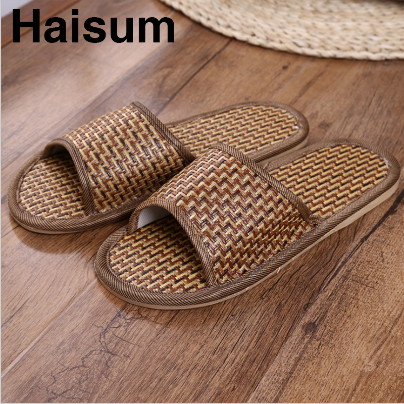 Natural tropical vine lovers home slippers rattan straw male and female lovers slippers bamboo rattan summer cool slippers CX001 2018 natural tropical royal cane couple home slippers rattan straw weave female slippers bamboo rattan summer slippers